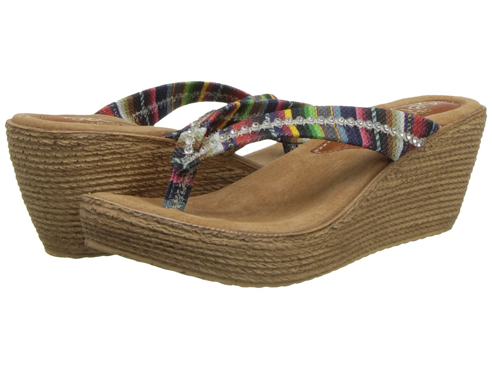 Sbicca - Carlsbad (Red Multi) Women's Wedge Shoes