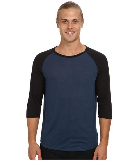 Alternative - Baseball Tee (Eco Splash Midnight/Eco True Black) Men's Long Sleeve Pullover