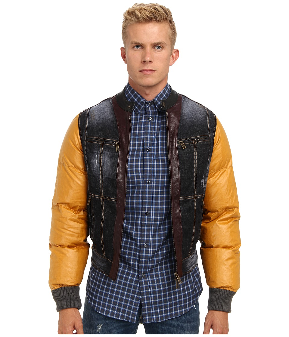 DSQUARED2 - Mixed Fabric Bomber (Multi) Men's Coat