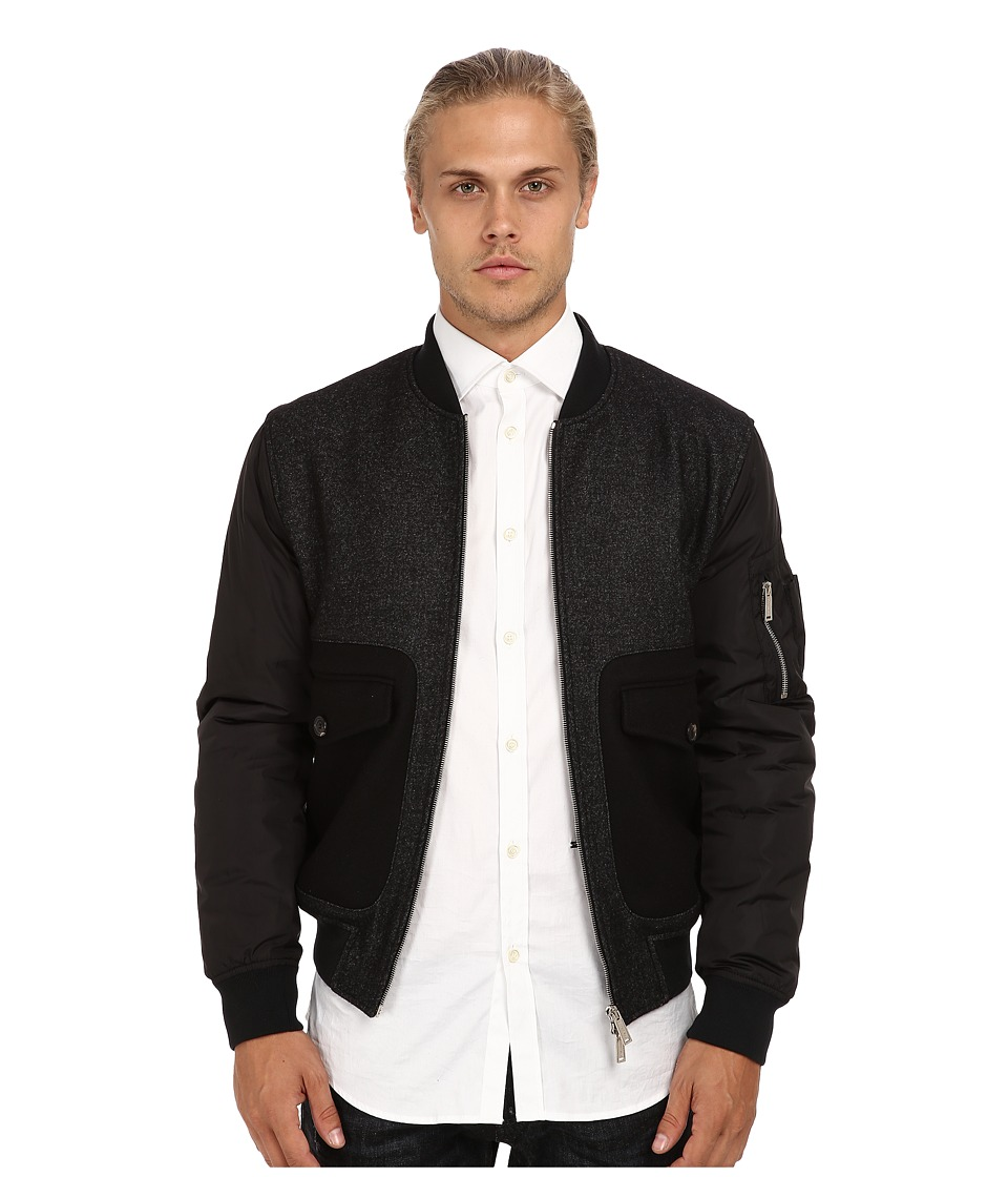 DSQUARED2 - Runway Criminal Bomber (Grey Melange) Men's Coat