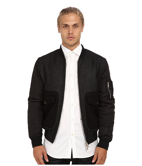 DSQUARED2 - Runway Criminal Bomber (Grey Melange) Men