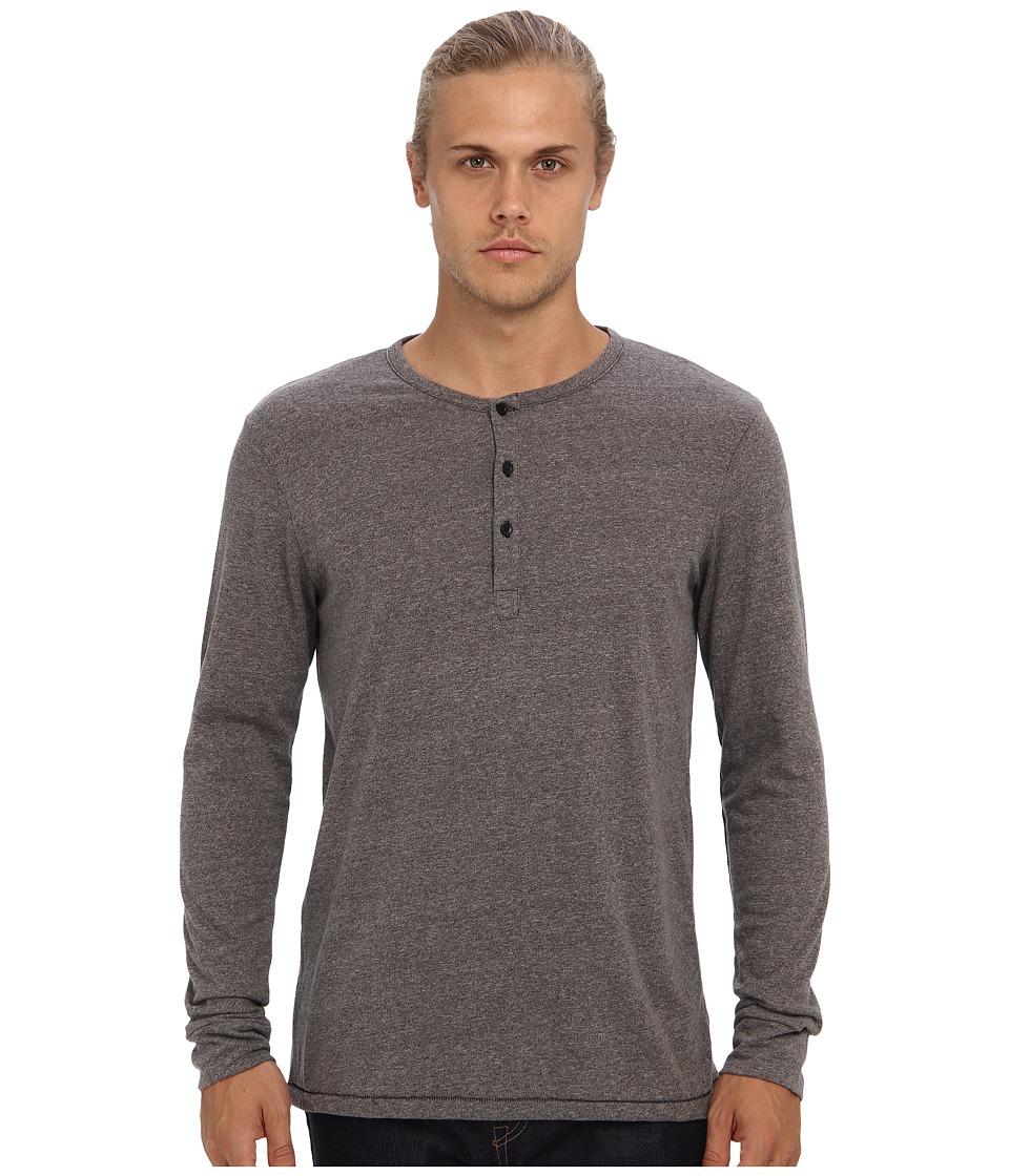 Alternative - Mock Twist Henley (Eco Black/Eco Mock Nickel) Men's Long Sleeve Pullover