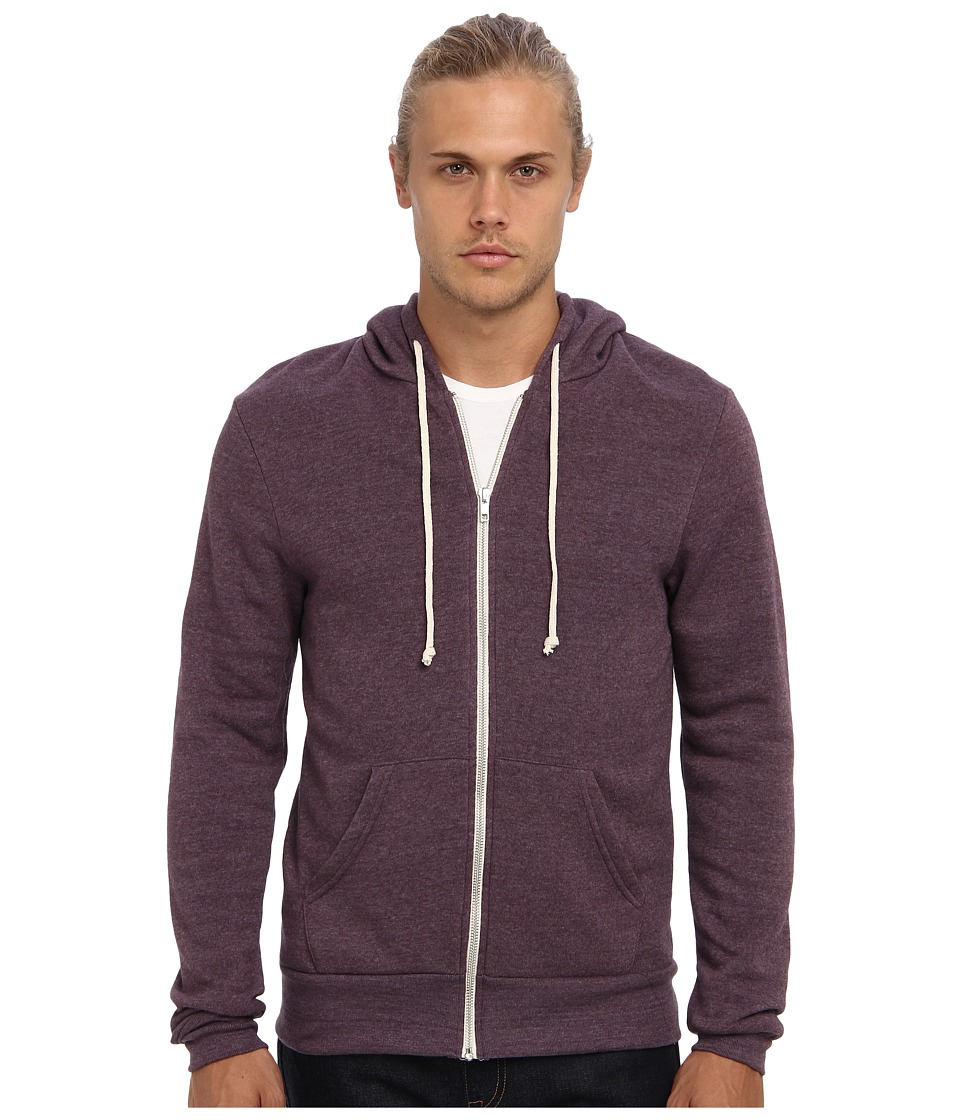 Alternative - Rocky Zip Hoodie (Eco True Eggplant) Men's Sweatshirt