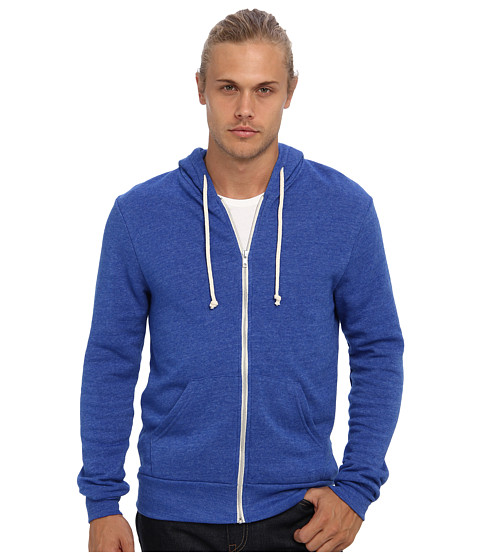Alternative - Rocky Zip Hoodie (Eco True Pacific Blue) Men's Sweatshirt