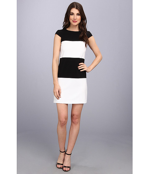 Marc New York by Andrew Marc - Color Block Dress MD4X4223 (Black/White) Women