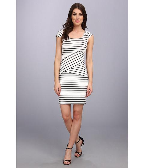 Marc New York by Andrew Marc - Zigzag Stripe Dress MD4F4229 (White) Women