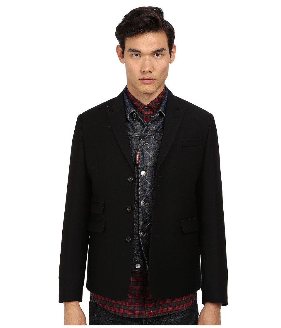 DSQUARED2 - Runway Jacket W/Denim Vest (Indigo) Men