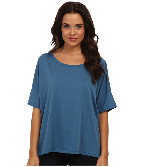 Alternative - Perfect Boxy Tee (Steel Blue) Women's Short Sleeve Pullover