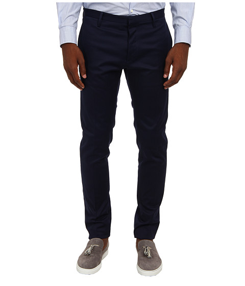 DSQUARED2 - Stretch Cotton Twill Tidy Pant (Indigo) Men's Casual Pants