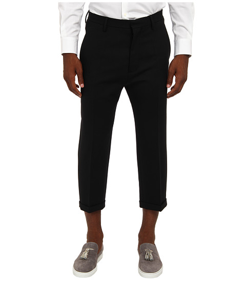 DSQUARED2 - Runway Schoolboy Pant No Pleat (Black) Men's Casual Pants