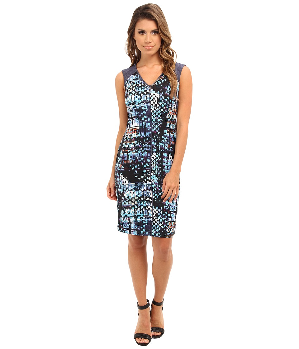 Marc New York by Andrew Marc - Contrast Yoke Sleeveless Dress MD4H6327 (Multi) Women's Dress