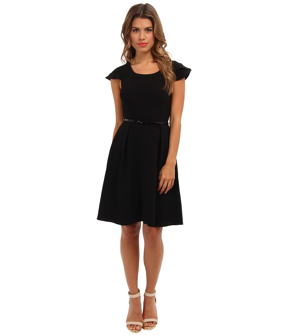 Marc New York by Andrew Marc - Scoop Neck Belted Dress MD4E6344 (Black) Women