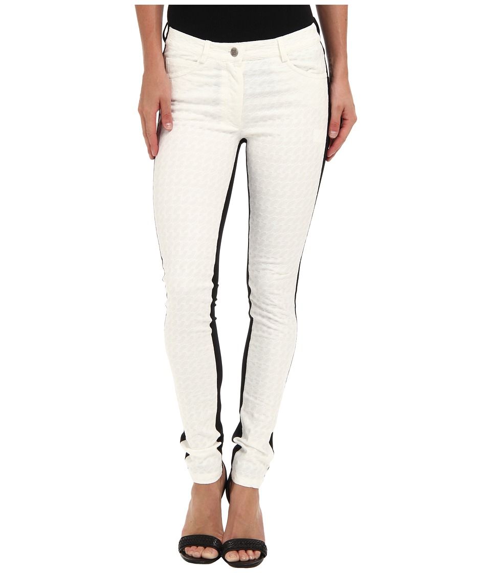 Nicole Miller - Skinny Combo Pant (White/Black) Women's Casual Pants