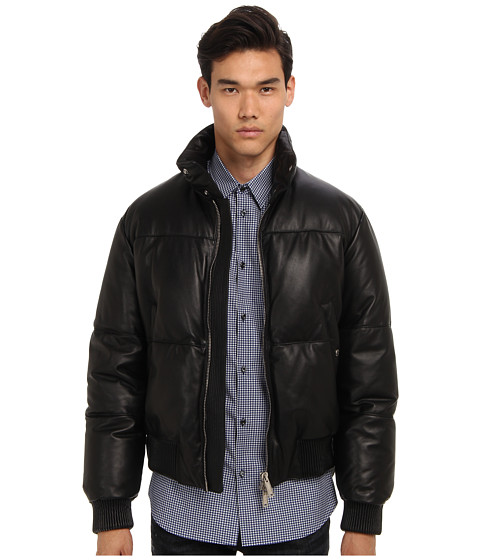 DSQUARED2 - Runway Michelin Leather Puffer (Black) Men's Coat