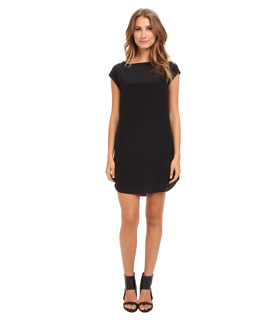 Alternative - Silk Shirttail Dress (Black) Women's Dress