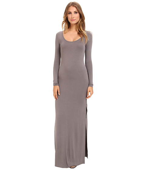 Alternative - Viscose L/S Maxi Dress (Nickel) Women's Dress