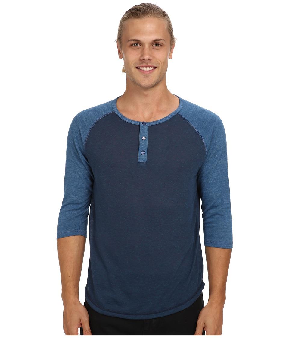 Alternative - Baseball Tee (Eco Splash Midnight/Eco True Steel Blue) Men's Long Sleeve Pullover