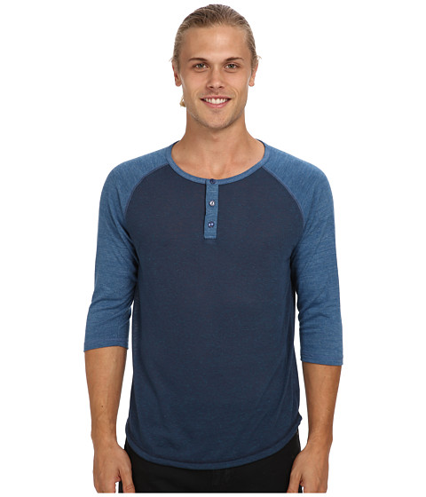 Alternative - Baseball Tee (Eco Splash Midnight/Eco True Steel Blue) Men's Long Sleeve Pullover