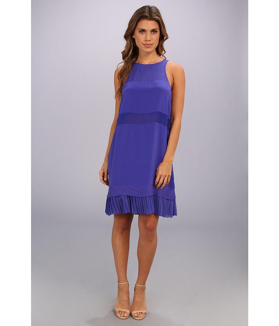 Nicole Miller - Mika Illusion Pleat Dress (Sapphire) Women's Dress