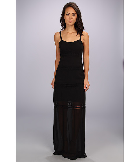 Nicole Miller - Vintage Rose Maxi Dress (Black) Women's Dress