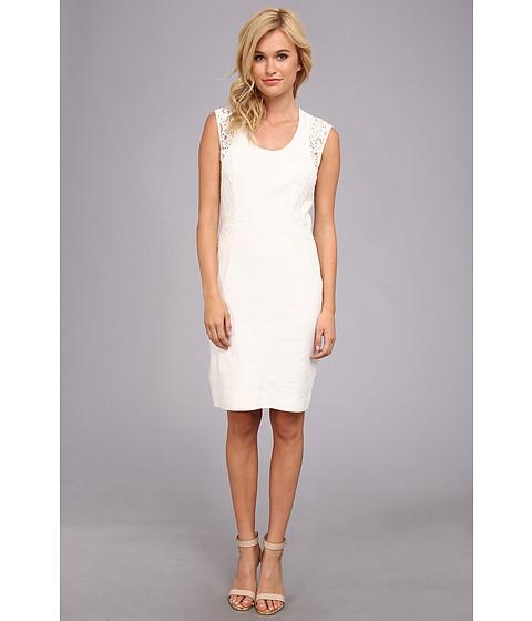 Nicole Miller - Dorian Stretch Linen Dress (White) Women