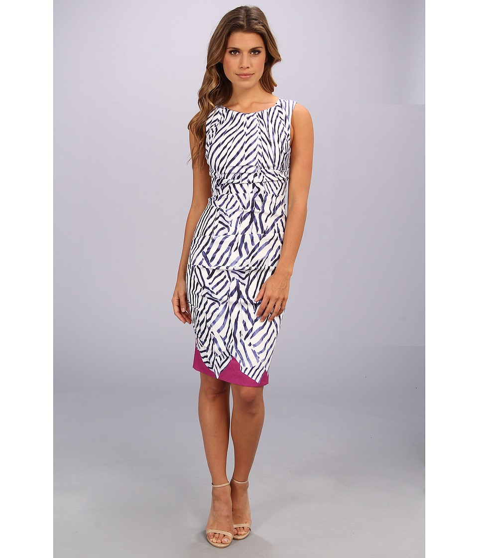 Nicole Miller Lauren Sailcloth Stripe Dress (Navy Multi) Women