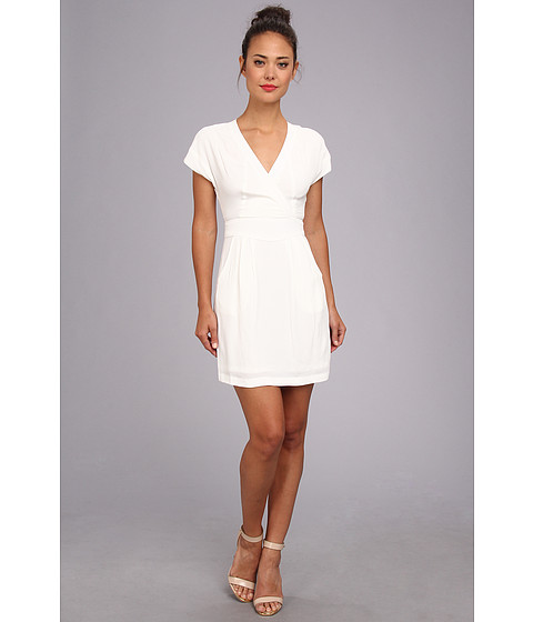 Nicole Miller - Betty Pebble Crepe (White) Women's Dress