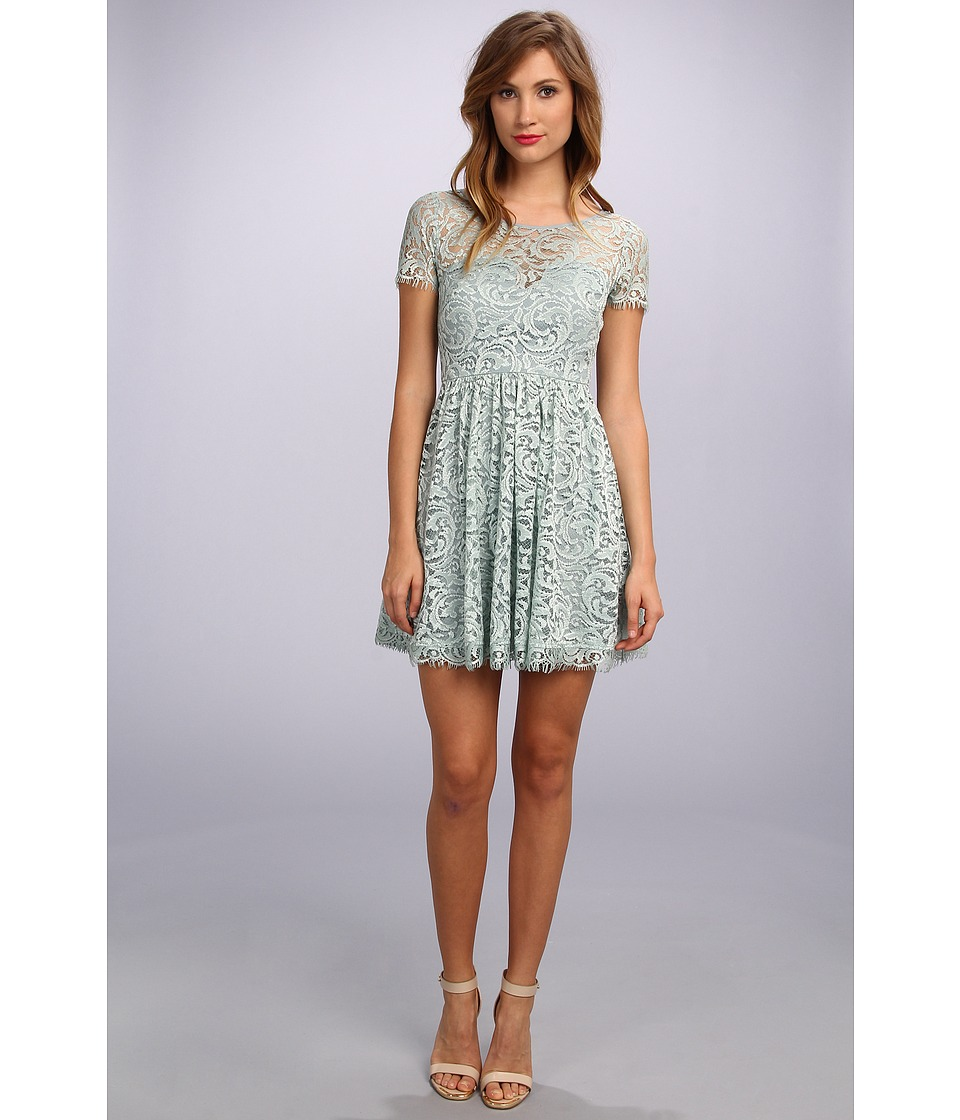Nicole Miller - Queenie Swirling Vines Dress (Ice Blue) Women's Dress