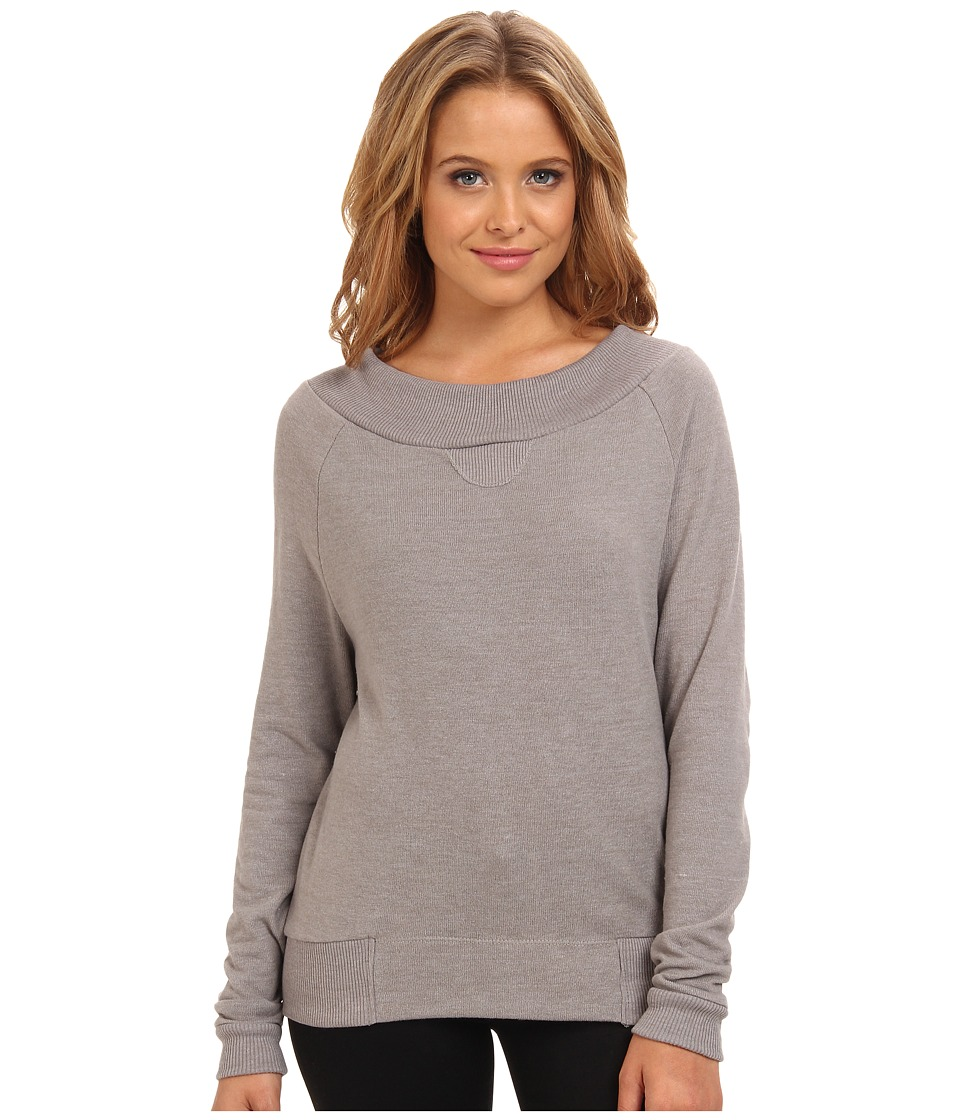 Alternative - L/S Eco Brushed Jersey Raglan (Eco True Nickel) Women's Sweater