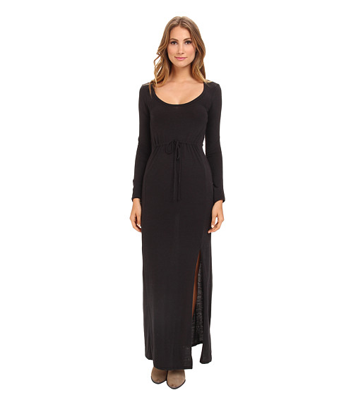 Alternative - Eco Jersey L/S Maxi Dress (Eco True Black) Women's Dress