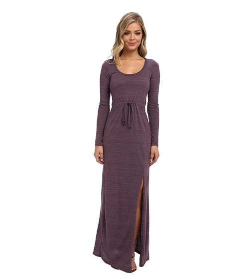 Alternative - Eco Jersey L/S Maxi Dress (Eco True Eggplant) Women's Dress
