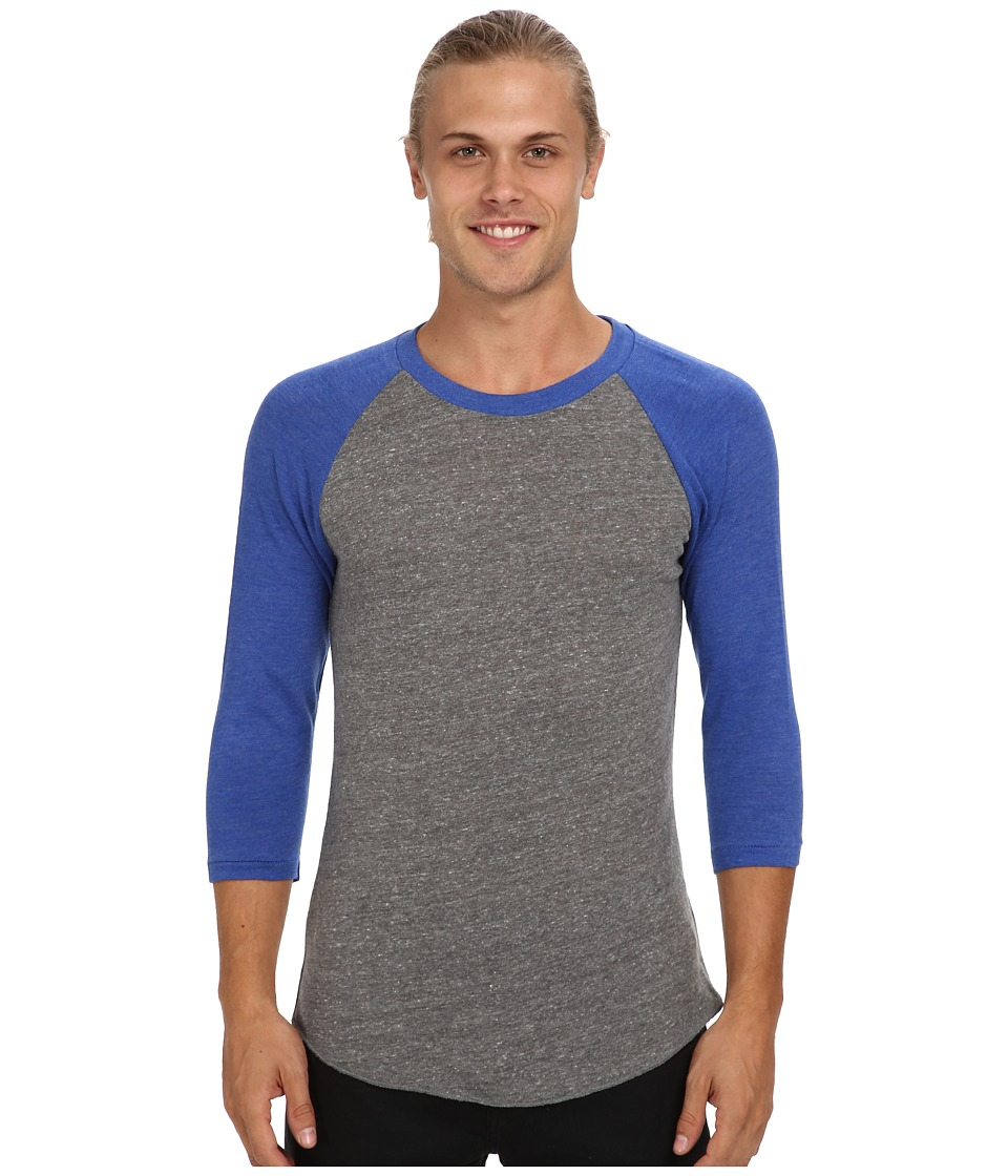 Alternative - Baseball Tee (Eco Grey/Eco True Pacific Blue) Men's T Shirt