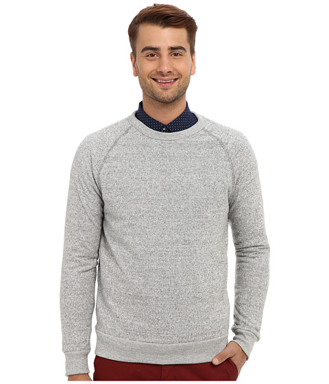 Alternative - Jaspe Crew Neck (Eco Grey) Men's Long Sleeve Pullover