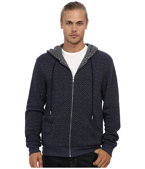 Alternative - Fleece Zip Hoodie Lined (Eco True Midnight Hexagon Dot/Eco Grey Hexagon Dot) Men's Sweatshirt