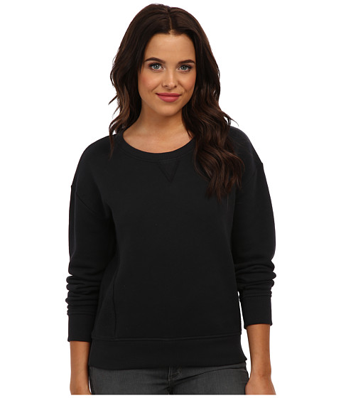 Alternative - Organic Heavy French Terry Crew Neck (Black) Women's Long Sleeve Pullover