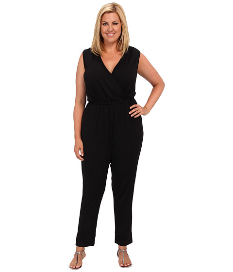 Rachel Pally Plus - Plus Size Holmes Jumpsuit White Label (Black) Women