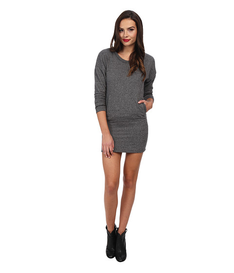 Alternative - L/S Eco Jaspe Dress (Eco Black) Women's Dress