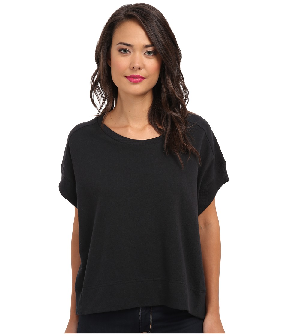 Alternative - Alternative Organic Muslin Crepe Scoop Neck Tee (Black) Women's Short Sleeve Pullover