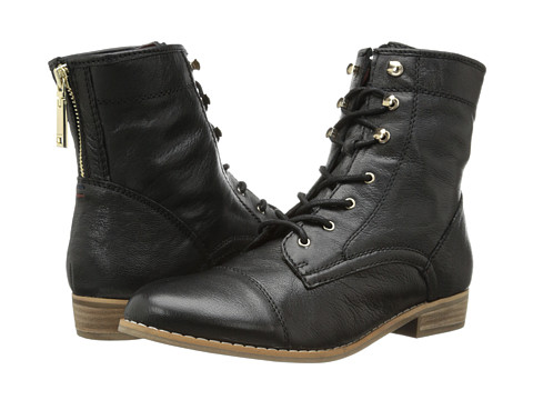 Tommy Hilfiger - Evie (Black/Sable Leather) Women's Lace-up Boots