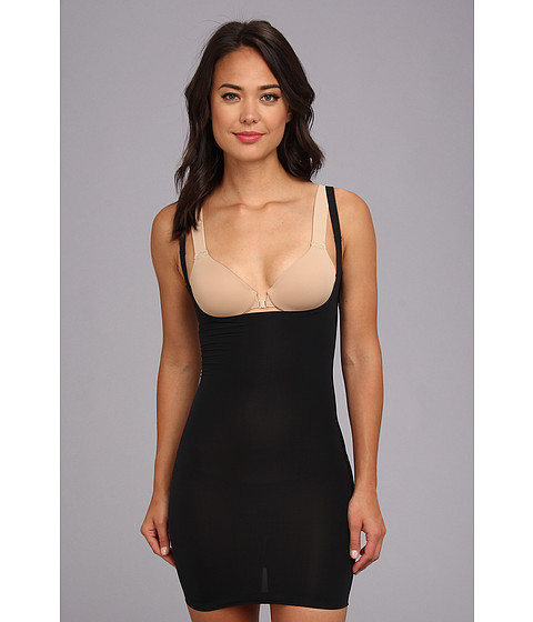 Yummie by Heather Thomson - Grace Low Back Bustless Slip (Black) Women