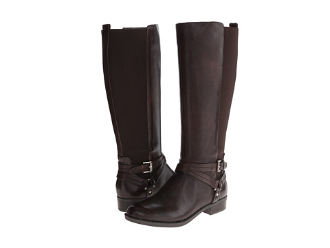 Tommy Hilfiger - Sienna (Roast Espresso Leather/Stretch Combo) Women's Zip Boots
