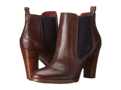 Tommy Hilfiger - Vitoria (TH Bourdeaux/Marine Marine Double Gore) Women's Pull-on Boots