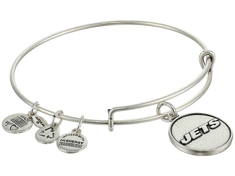 Alex and Ani - New York Jets Logo Charm Bangle (Rafaelian Silver Finish) Bracelet