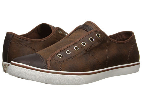 GUESS - Mickey 2 (Cognac) Men's Slip on Shoes