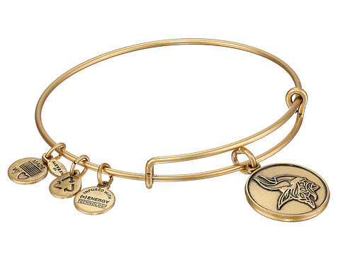 Alex and Ani - Minnesota Vikings Logo Charm Bangle (Rafaelian Gold Finish) Bracelet