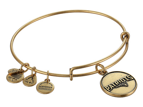 Alex and Ani - New England Patriots Logo Charm Bangle (Rafaelian Gold Finish) Bracelet