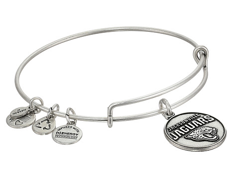 Alex and Ani - Jacksonville Jaguars Logo Charm Bangle (Rafaelian Silver Finish) Bracelet