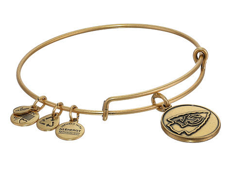 Alex and Ani - Kansas City Chiefs Logo Charm Bangle (Rafaelian Gold Finish) Bracelet