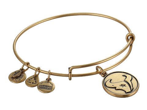 Alex and Ani - Houston Texans Logo Charm Bangle (Rafaelian Gold Finish) Bracelet