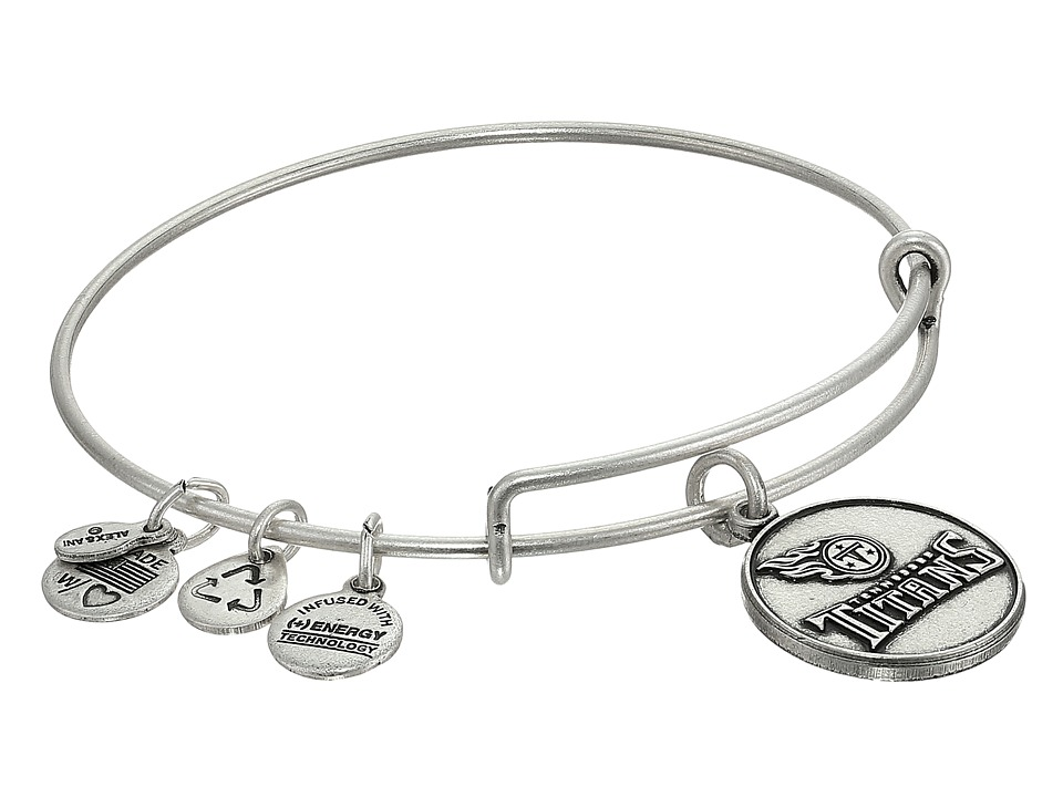 Alex and Ani - Tennessee Titans Logo Charm Bangle (Rafaelian Silver Finish) Bracelet
